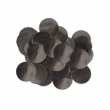 Metallic Black Foil Confetti | 10mm Metallic Round | 50g Bag